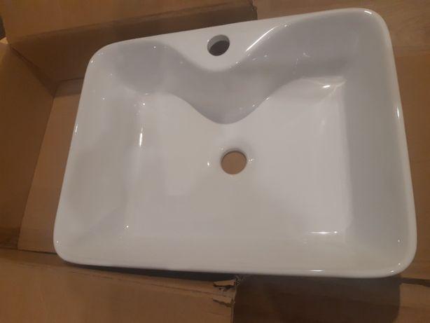 Umywalka nablatowa NOWA prostokątna biała wymiary ok 48x37x13 cm