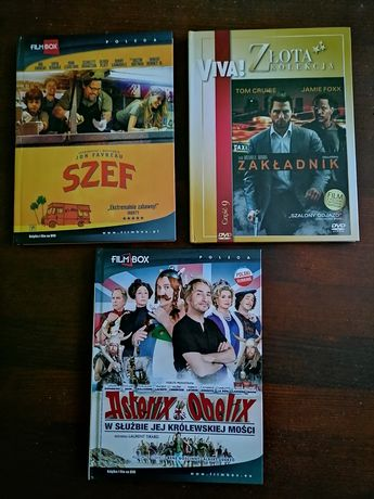 Zestaw 3 filmy Szef Zakładnik Asterix i Obelix,,
