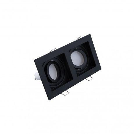 Точковий світильник на 2 лампи чорний або білий
