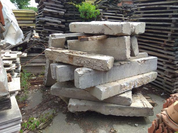 Стовп забора, бетонний, бордюр, плита, кришка колодязя.