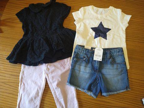 Zestaw na lato, spodenki, t-shirty nowel idealne