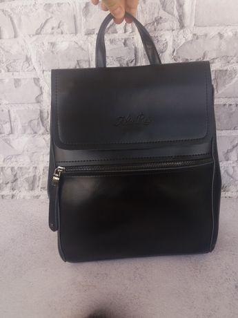 Из НАТУРАЛЬНОЙ КОЖИ женский кожаный рюкзак портфель кожаный