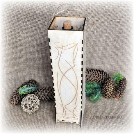 Piękne skrzynki na alkohol, prezent na ślub, wino, pudełko