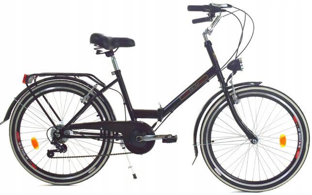 Rower miejski Dallas Składak 24″ 6 spd ( biegów )