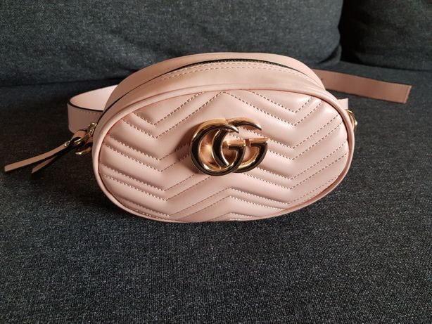 Nerka Gucci torebka saszetka różowa nude