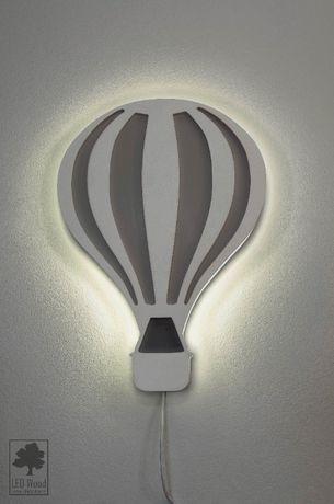Lampa nocna, drewniana LED - Balon