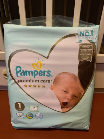 Pampers premium care 1, 78 штук