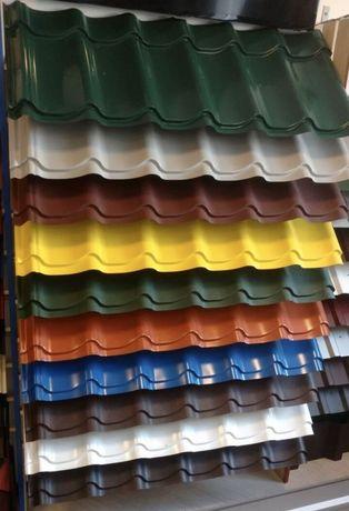 Металлочерепица-завод,матовая глянцевая,качественный прокат,все цвета