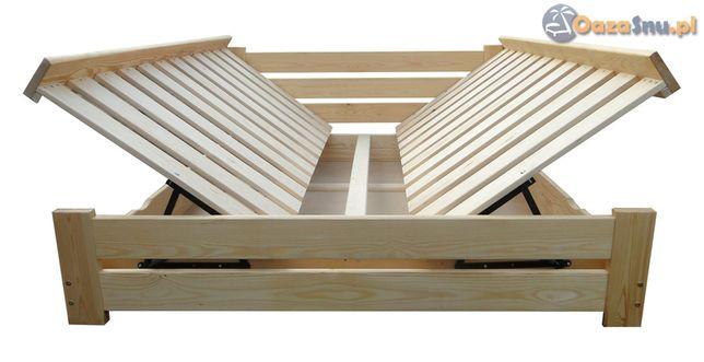 Łóżko podnoszone z dwóch stron ze skrzynią HARMONIA 140x200