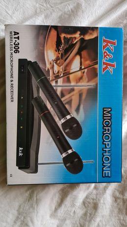 Zestaw karaoke dwa mikrofony