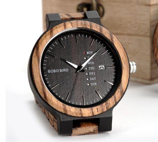 Oryginalny zegarek Drewniany firmy Bobo Bird BoboBird Gwarancja Męski