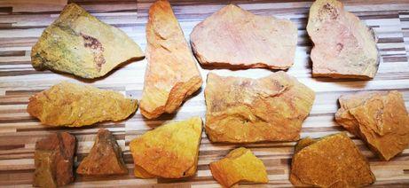 kamienie akwariowe pomarańczowo-żółty chyba piaskowiec