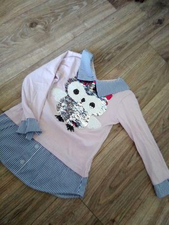 Bluzka, bluzeczka, koszula, cekiny 110