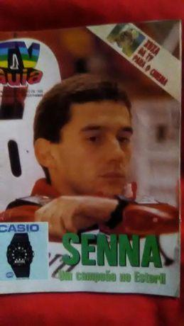 Revista Ayrton Senna 1988 e Isqueiro Grande Prémio Portugal 1996