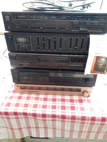 Sprzet stereo+głośniki+gwizdki+zwrotnice.