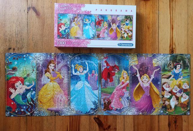 Puzzle Disney Princess panorama 1000