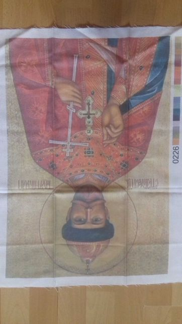 Схема вышивки на канве Николай .Три размера