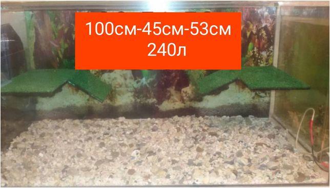 Новый террариум (аквариум) для черепахи : 100см-45см-53см. Доставка