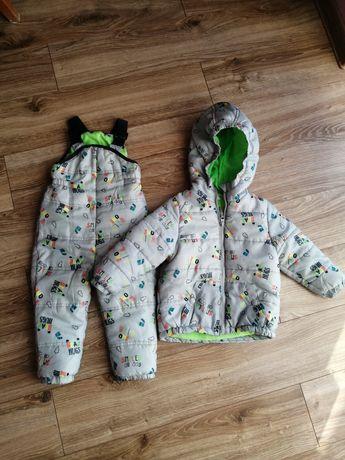 Pepco zestaw spodnie narciarskie + kurtka 86