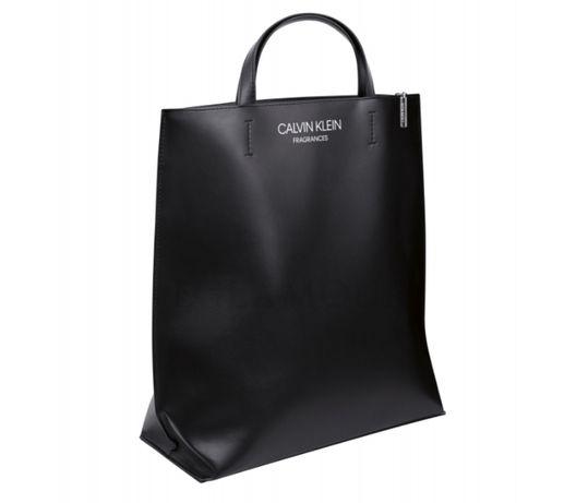 CALVIN KLEIN - duża czarna torebka - torba CK - OSTATNIA SZTUKA!