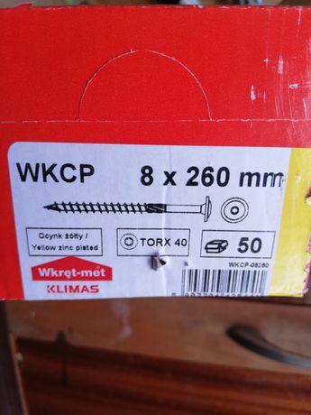 Wkręty ciesielskie konstrukcyjne talerzykowe fi8x260mm