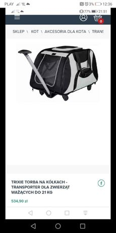 Transporter dla zwierząt psa kota torba platforma na kółkach wózek kot