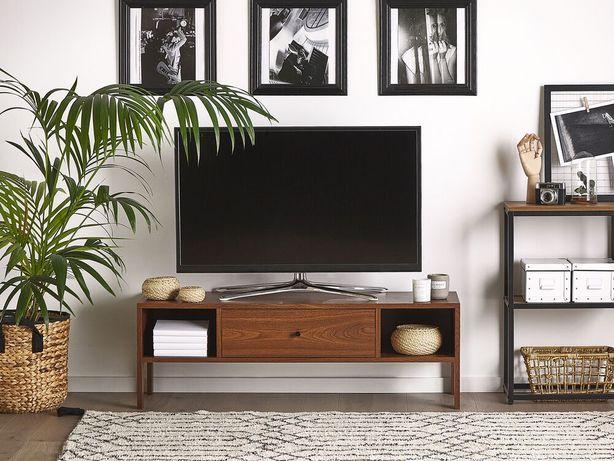 Móvel de TV castanho escuro CLINTON - Beliani