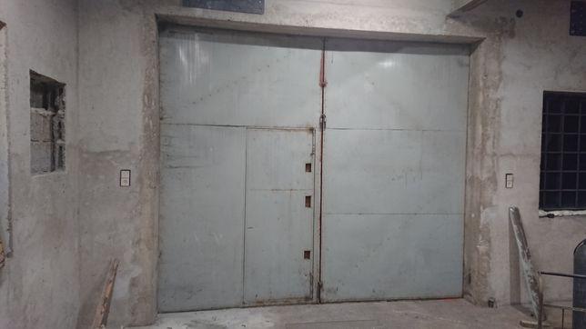 Drzwi metalowe solidne do garażu warsztatu stodoły magazynu 3,5x3m