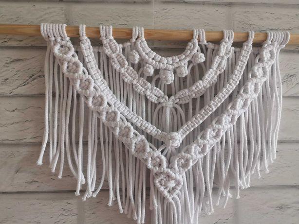 Makrama- ścienna, sznurek bawełniany
