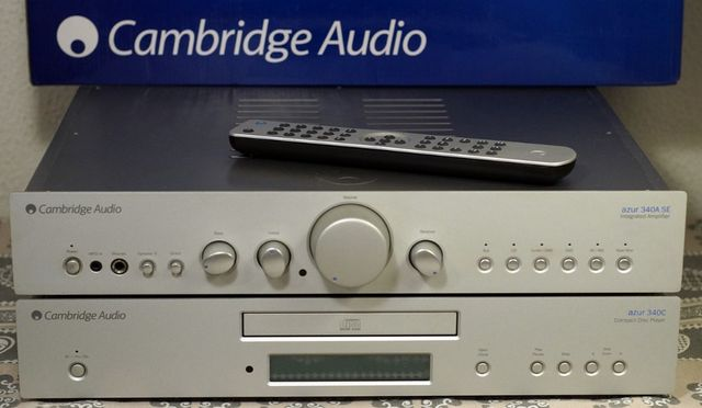 komplet Wzmacniacz Cambridge Audio Azur 340A SE i CD 340C srebrne