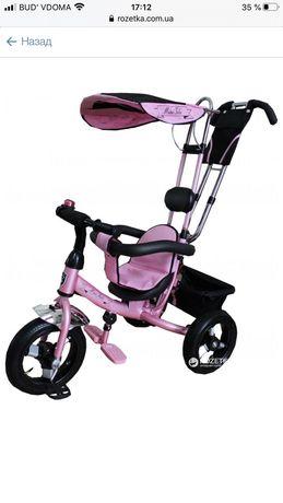 Велосипед трехколесный с ручкой Mars Mini Trike  Розовый