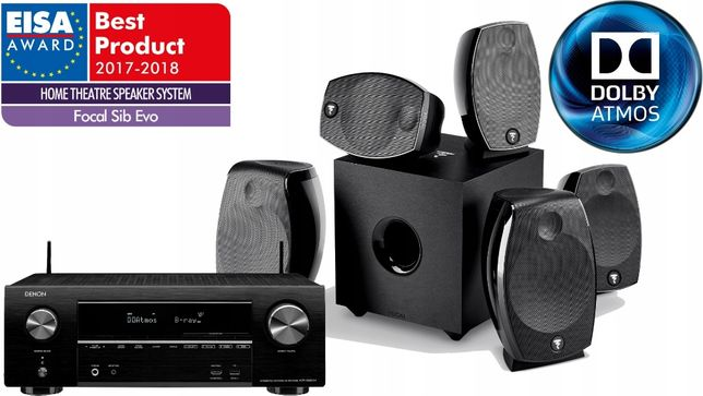 Super kino Denon AVR-X1600H + Focal SIB EVO 5.1.2 Dolby Atmos