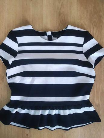 Reserved - biało czarna z mini baskinką - 40 / 42
