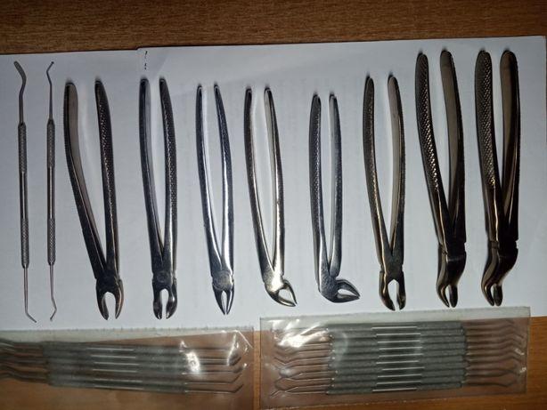 Щипцы для удаления зубов и лопатки-шпатели