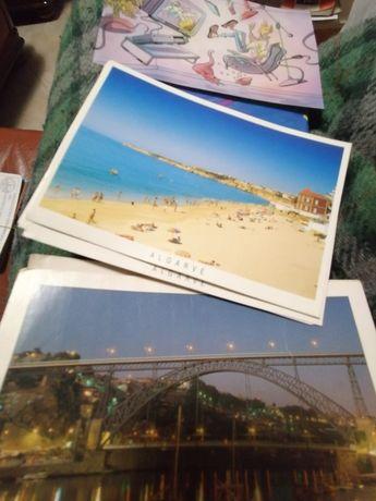 Vendo 14 postais ler pf observação