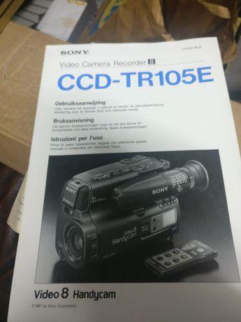 Câmara de filmar sony ccd tr105e para peças e manuais