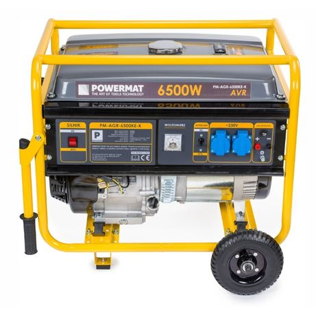 Agregat prądotwórczy generator prądu 6500W +koła AVR 230V