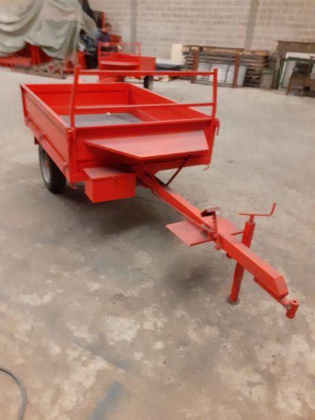 Atrelado para moto cultivador, caixa 1.70x1.25x0.34,c/ rodas n.186