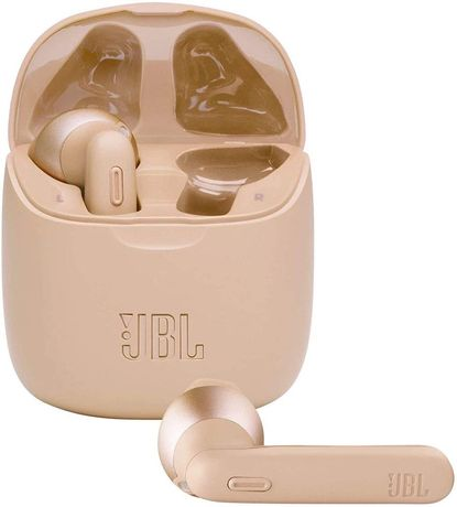 Auriculares Bluetooth True Wireless JBL T225 dourado Novos c/ Garantia