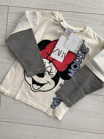 Bluzka Zara 92 18-24 minnie nowa