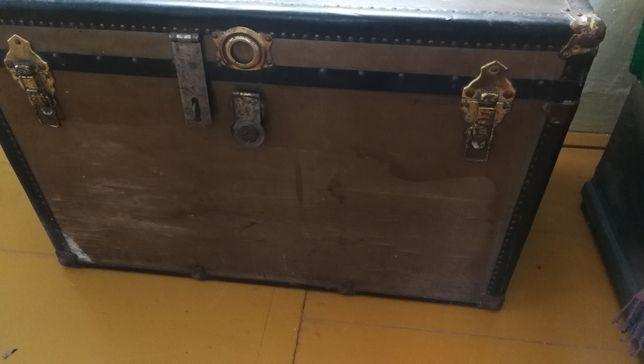 Skrzynia kufer stara pochodzenie USA-przecena