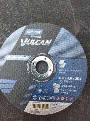 Акция! Круг,Диск отрезной 400х4х25.4 Norton Vulcan