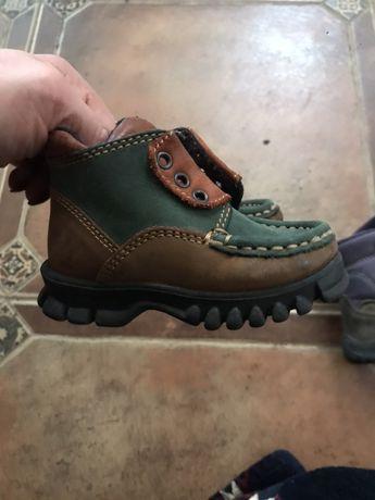 Натуральные ботинки из нубука на утеплителе  20-21 р