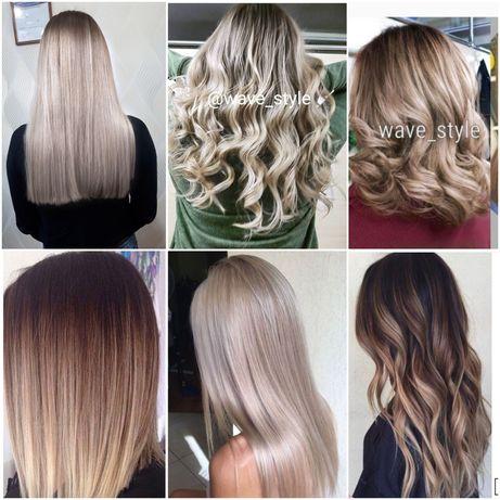 Окрашивание волос AirTouch шатуш омбре балаяж мелирование блонд