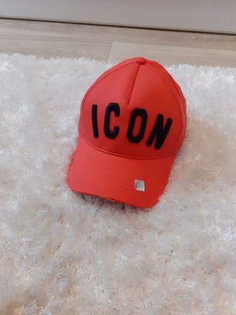 Pomarańczowa czapka z daszkiem icon dsquared