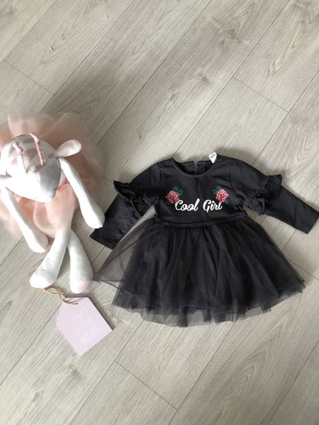 Sukienka na roczek tiul 9-12m