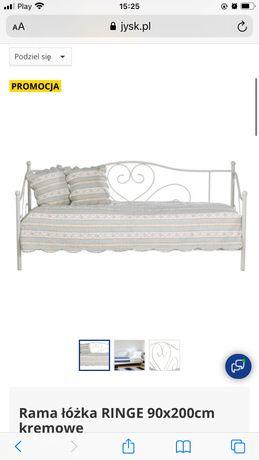 Rama do łóżka biala