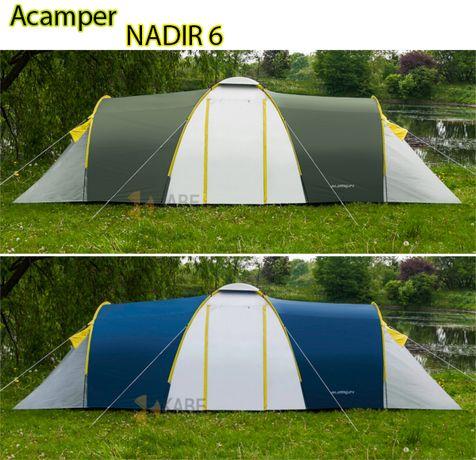 Палатка туристическая кемпинговая Acamper Nadir 6 двухслойная