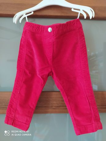 Spodnie 74 c&a czerwone