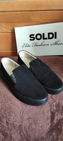 Замшевые туфли Бэнд фирма Солди